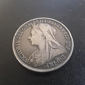 Solid silver 1897 Crown - World Coins