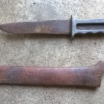 old lead handle knife