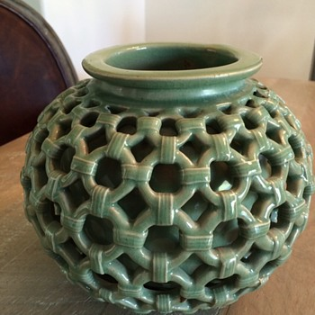 Vase Within a Vase...very nice quality and fascinating...need info - Pottery