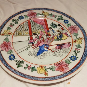 Beautiful colourful plate - Asian