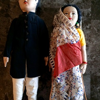 Vintage handmade dolls from India