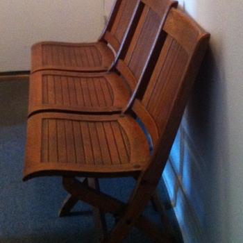 Oak church bench. - Furniture