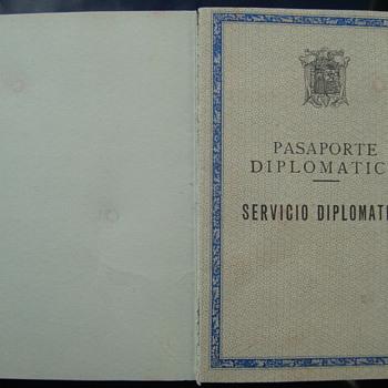 Ca. 1962 Spain Diplomatic Passport - Consul DDR - East Berlin. - Paper