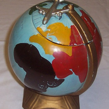 McCoy Cookie Jar: Earth Globe & Jetliner