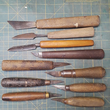 and still more old pipe organ tools -- various knives - Musical Instruments