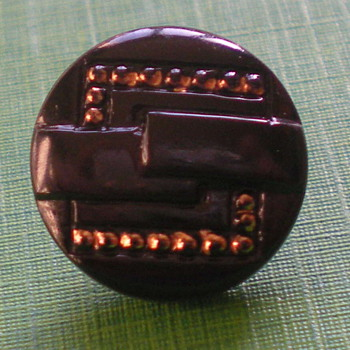 Art Deco glass buttons.