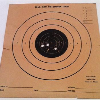 20-yd Slow fire handgun paper target. - Paper