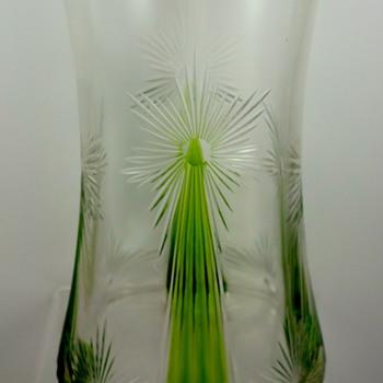 Kristallglasfabrik Wilhelm Steigerwald, Regenhütte cut glass vase, ca. 1901-1906 - Art Glass
