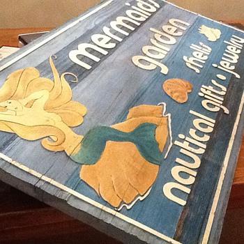 Mermaid Wood Sign - Signs