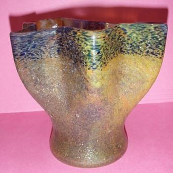 Czech Sandpaper Glass Vases - Art Glass