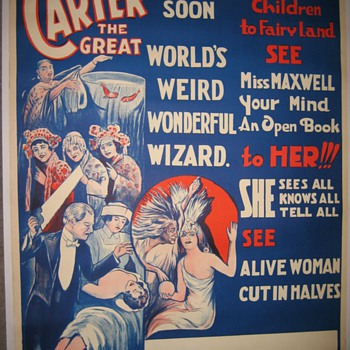 "Carter ""Coming Soon"" Original Stone Lithograph Poster - Posters and Prints"