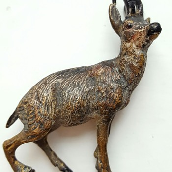 Little chamois, antique Vienna bronze. - Fine Art