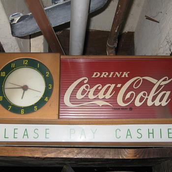 coke mantel style clock - Coca-Cola