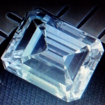 THE BELL DIAMOND --- LARRY BELL AND LUCILLE BELL, OF BELL AIRCRAFT COMPANY --- 6.18 CT. DIAMOND --- EMERALD CUT  - Fine Jewelry