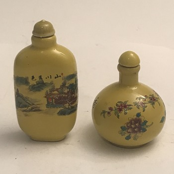 Need help with signature on snuff bottles  - Asian