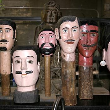Giganties from Guatemala watching me everyday - Folk Art