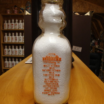 DOUBLE BABY TOP MILK BOTTLE LONDON'S FARM DAIRY (PORT HURON, MICHIGAN) - Bottles