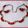 CORO - Matching NECKLACE and EARRINGS -- ( Thermostats Necklace and Earring set Mint 1950/60 )