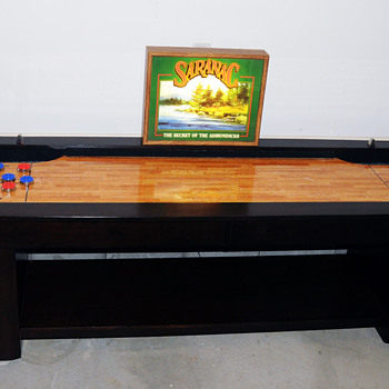 9 Foot Shuffleboard Table & Saranac Lager Beer Light - Games