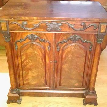 Antique Map Document Chest Cabinet - Furniture