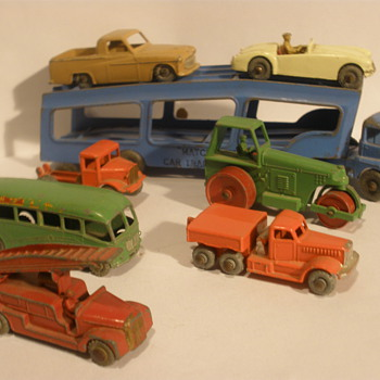 My collection of early matchbox cars.  - Model Cars