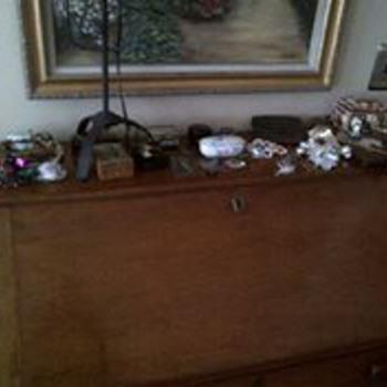 Antique pine desk  - Furniture