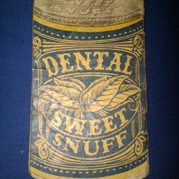 Dental Sweet Snuff advertising notepad - Tobacciana