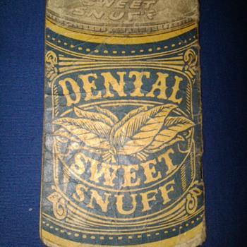 Dental Sweet Snuff advertising notepad - Tobacciana