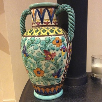 Colourfull French Vase. - Pottery