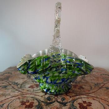 Welz Glass Basket - Art Glass