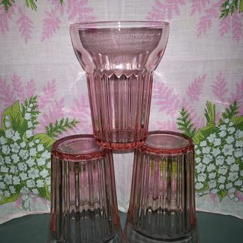 Fortune Pink Depression Glasses - Glassware