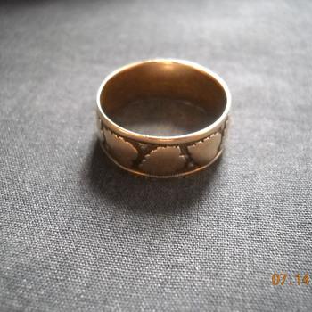 Rose gold wedding band, bible locket