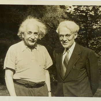 Original Old June 14, 1941, Albert Einstein & Clyde Fisher Princeton New Jersey Photograph Picture - Photographs