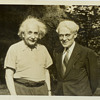 Original Old June 14, 1941, Albert Einstein & Clyde Fisher Princeton New Jersey Photograph Picture