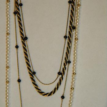Vintage Monet Beaded Necklaces and Bracelets