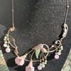 Period Silver & Jadeite jade  Necklace