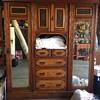 Circa 1890 walnut Gentleman wardrobe dresser