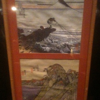 Framed Asian Textiles  Silk  - Rugs and Textiles