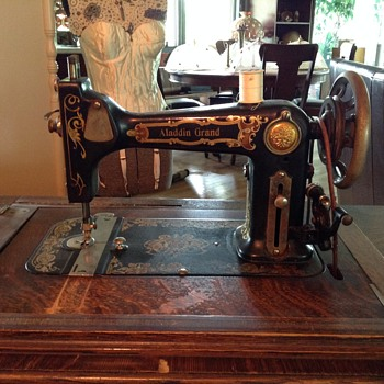 Greist treadle sewing machine recent Yard sale find!