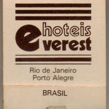 Hotéis Everest (Brazil) - Matchbook - Tobacciana
