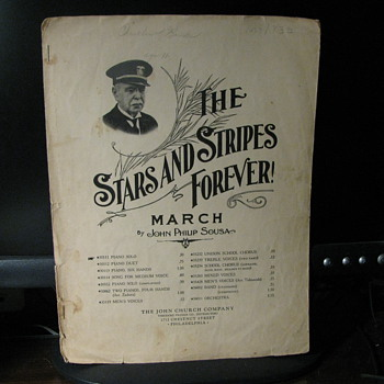The stars and Stripes Forever  copyright; 1897 - Music Memorabilia