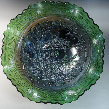 Imperial Glass - Windmill Bowl - Emerald Green - Art Glass