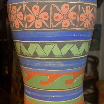 Mayan / Aztec Revival Opaque Ware from Mexico - Pottery