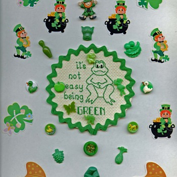 St. Patrick's Day card with buttons - Sewing