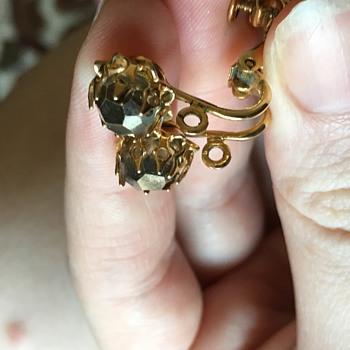 Rhinestone earrings  - Costume Jewelry
