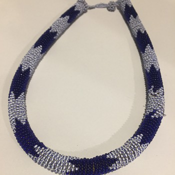 African Wrapped Beaded Necklace