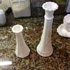 Two milk glass vases