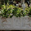Large, old Sarcophagus Planter with Centaurs