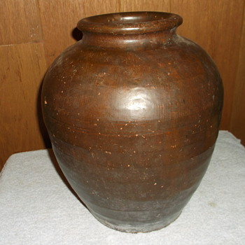 Early Native American Earthenware Glazed Pot Tribal ? Looking For Any Info... - Pottery