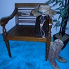 Rosewood Dining Armrest Chair; Right?